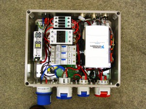 inside showing data acquisition, contactors fusing and power supply