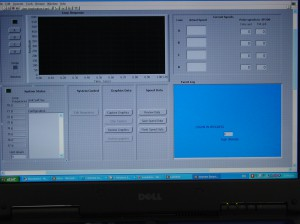 labview monitoring interface to capture vehicle profiles
