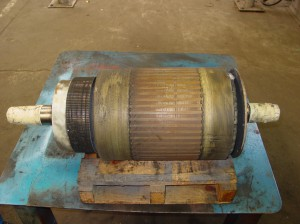 traction motor armature
